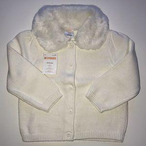 NWT Gymboree Girls 12-18 mos Sweater Fur Collar